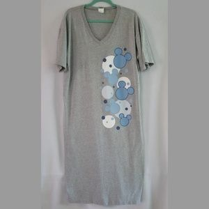 Disney Mickey Mouse Grey w/ Blue Sleep Shirt L/XL